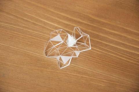 Anais Paulard, clear acrylic brooch