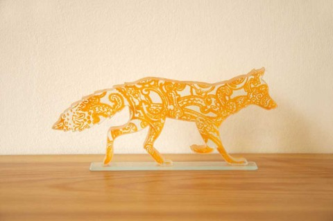 Orange Paisley Fox £45