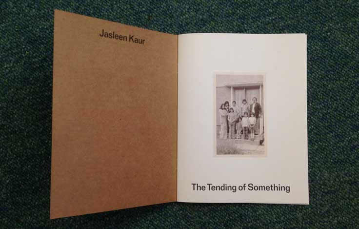 Jasleen Kaur - The Tending of Everything (inside front cover)