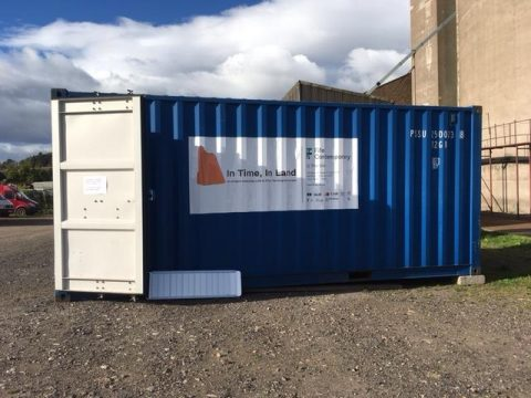 Container placed at Cupar Silo Site