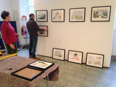 Installation of Alan Vest exhibition