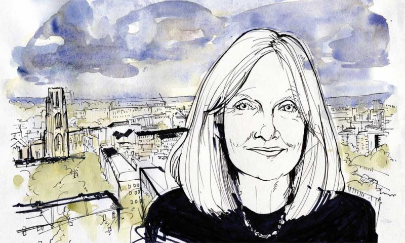 Illustration of Helen Dunmore by Alan Vest