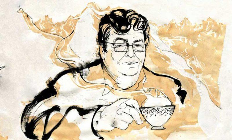 Alan Vest illustration of John Burnside