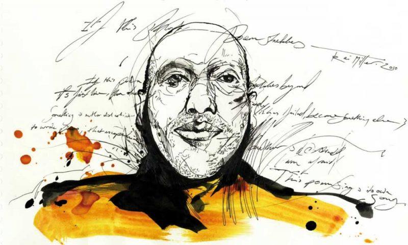 Illustration of Kei Miller by Alan Vest