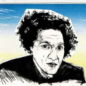 Illustration of Lemn Sissay by Alan Vest