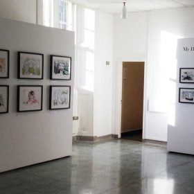 View of Alan Vest exhibition, March 2018, St Andrews