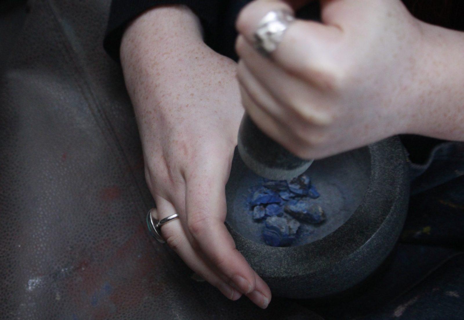 Caitlin Hegney, Crushing Lapis Lazuli.