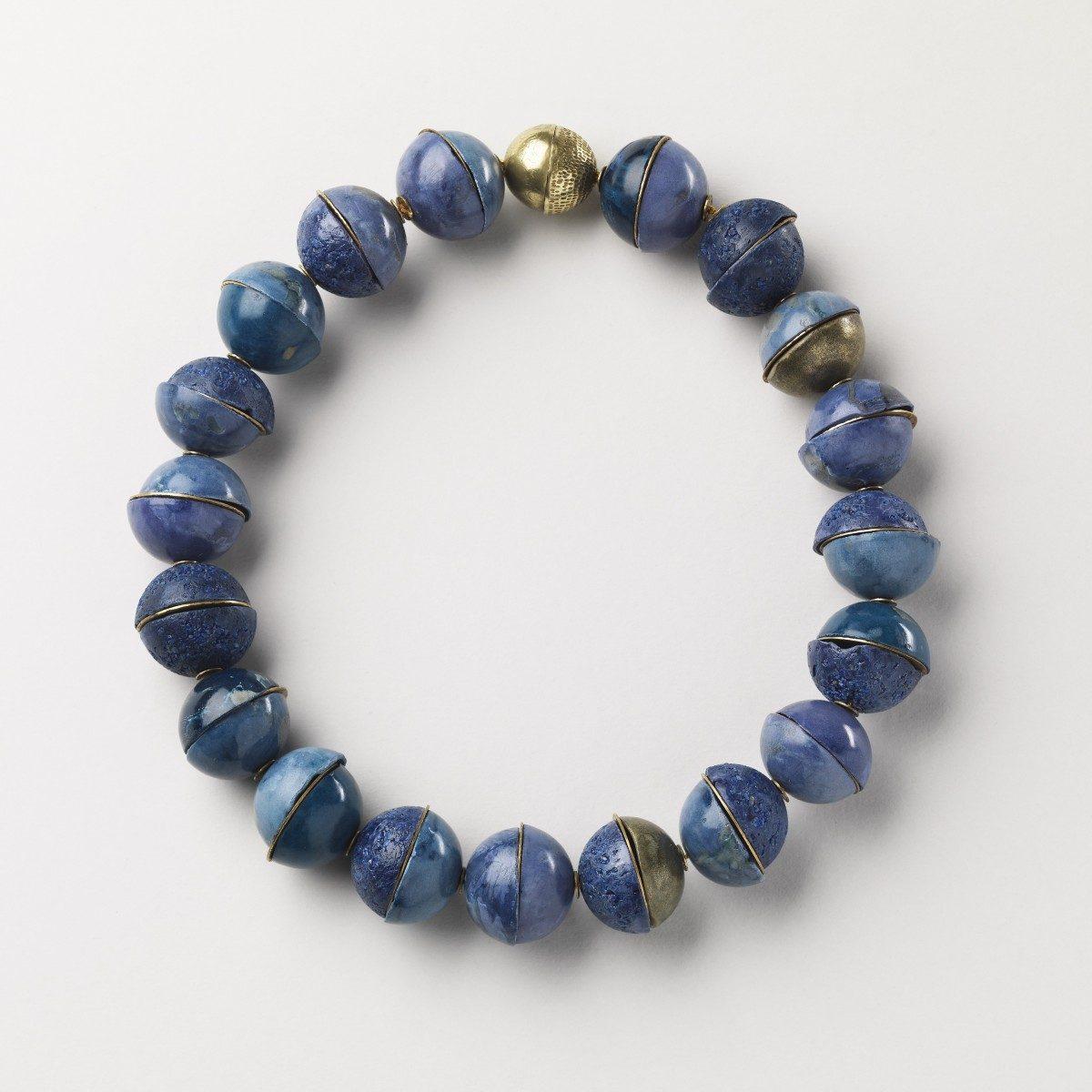 Blue Neckpiece by Caitlin Hegney