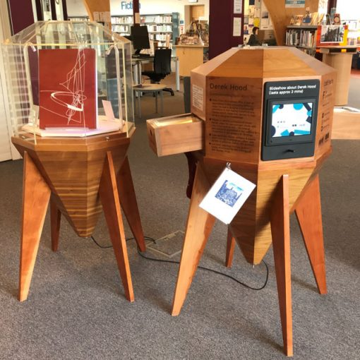 Craft Pods with Derek Hood book bindings at Inverkeithing Library