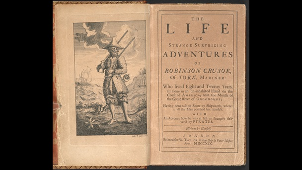 Frontispiece of Daniel Defoe's most famous novel