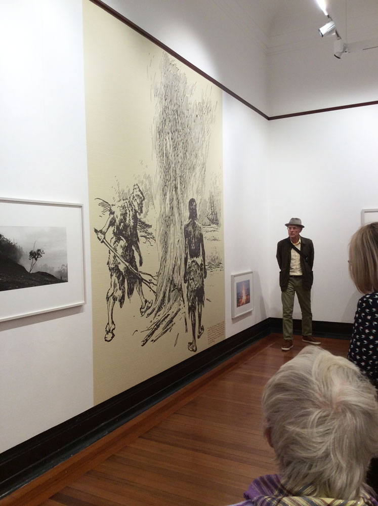 Roger Palmer giving a gallery tour, 25 April 2019