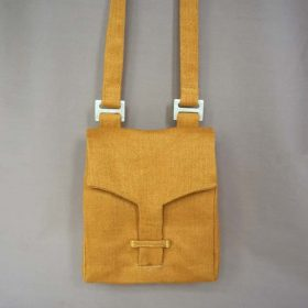 Yellow Linen Shoulder Bag