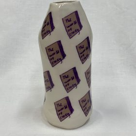 The Fife Carers' Collection 1, ceramic vase 'The World of Crazy' - front view