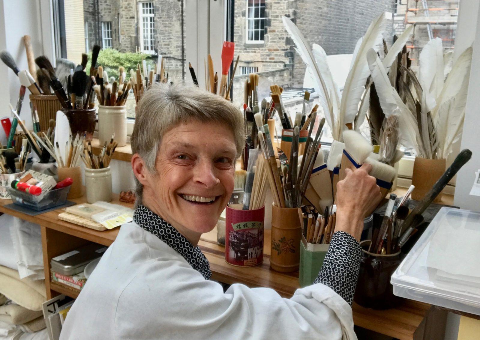 Susie Leiper in her studio