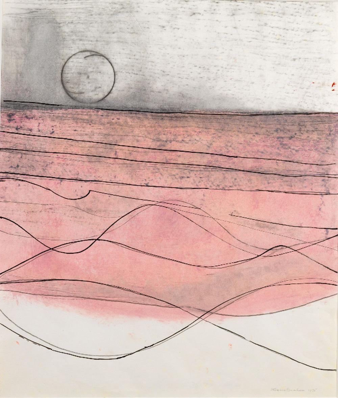 Wilhelmina Barns-Graham, Line Series with Circle, 1975 (BGT 1166)