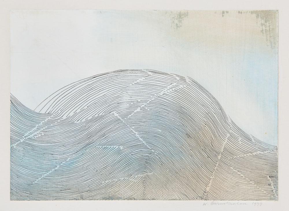 Wilhelmina Barns-Graham, Surf Wave, 1977 (BGT 75)