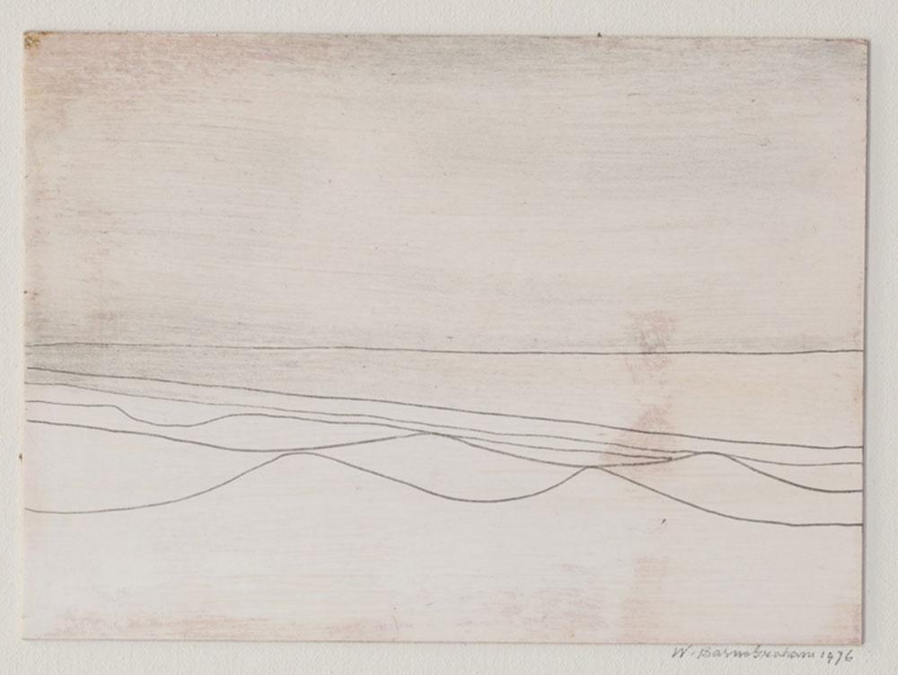 Wilhelmina Barns-Graham, Six Lines (Sand and Sea), 1976 (BGT 2416)