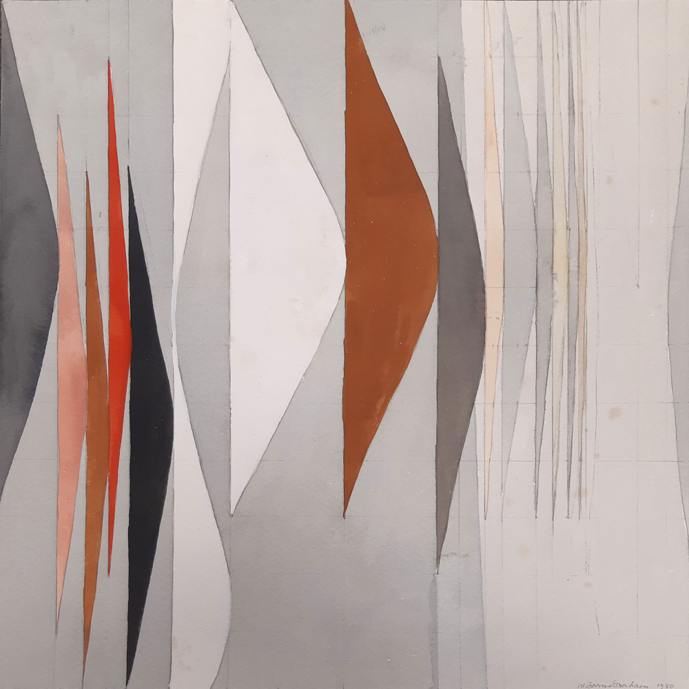 Wilhelmina Barns-Graham, Expanding Forms 2 (Rust),1980 (BGT 1140)