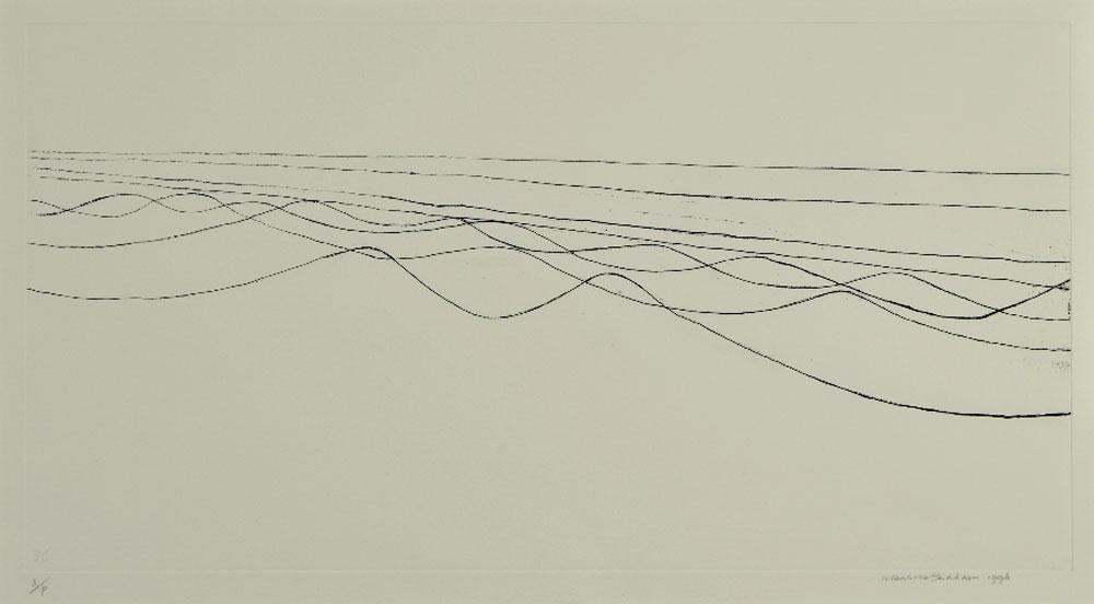 Wilhelmina Barns-Graham, Eight Lines I, 1996 (etching)
