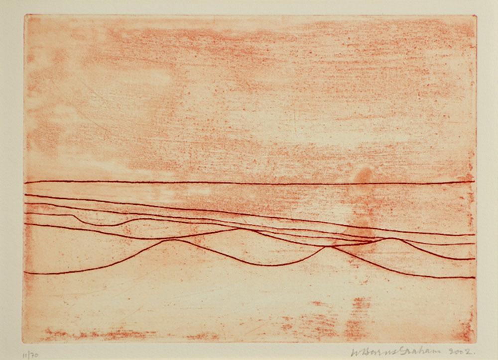 Wilhelmina Barns-Graham, Six Lines, 2002 (etching)