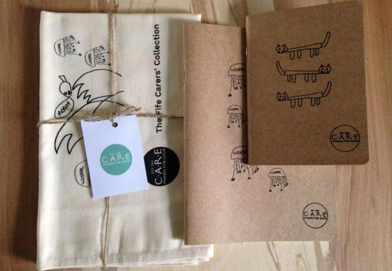 Pack 1 - tea towel & 2 sketchbooks