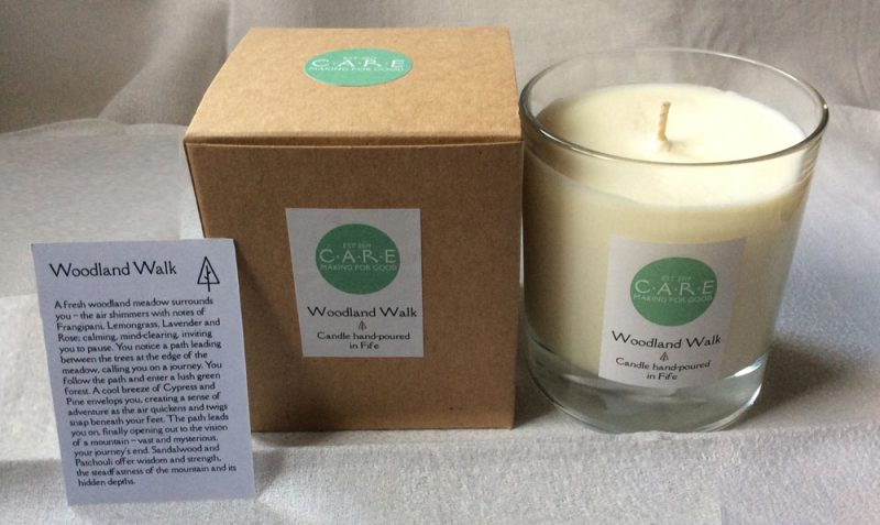 Woodland Walk natural wax candle with box