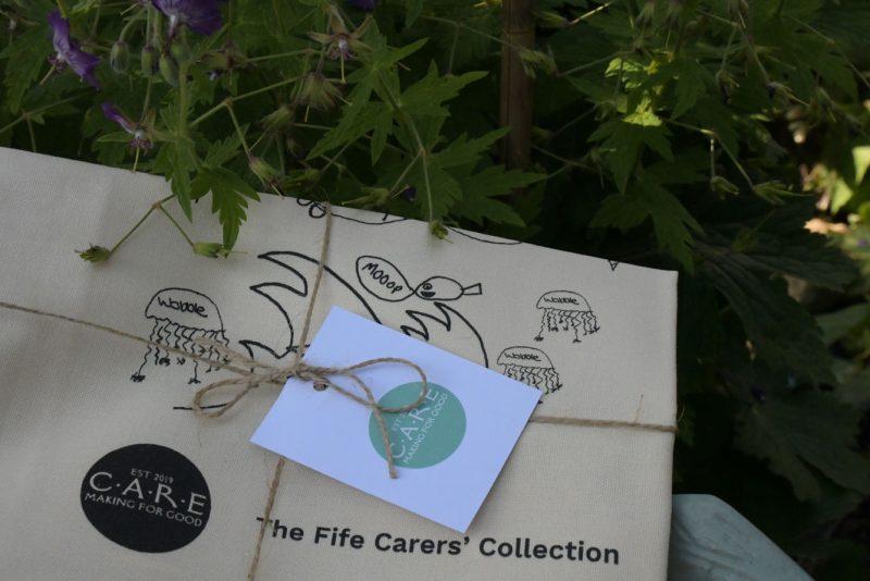 CARE Fife Carers' Collection 100% cotton tea-towel