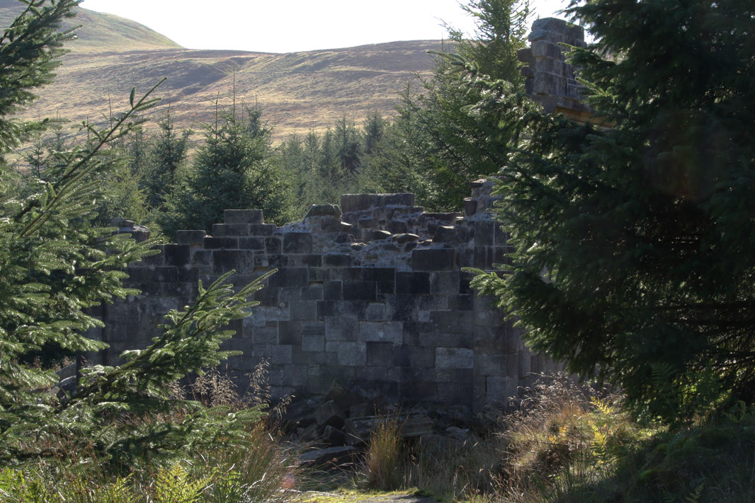One of the walls of the Temple of Decision, Falkland Estate