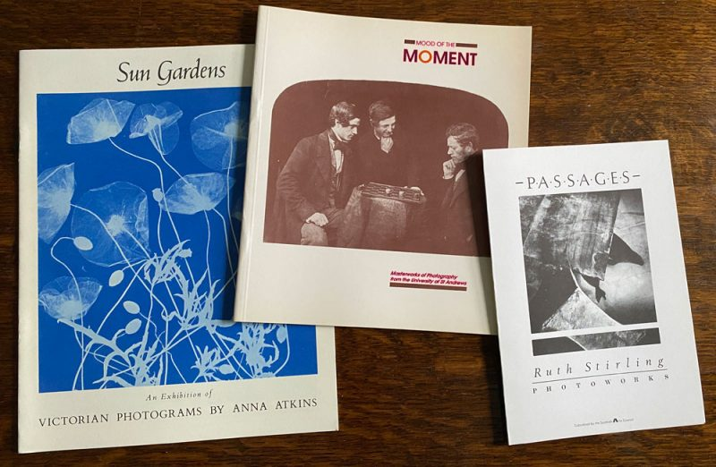 Set of 3 photography publications - Anna Atkins' Sun Gardens, Mood of the Moment, Ruth Stirling's Passages