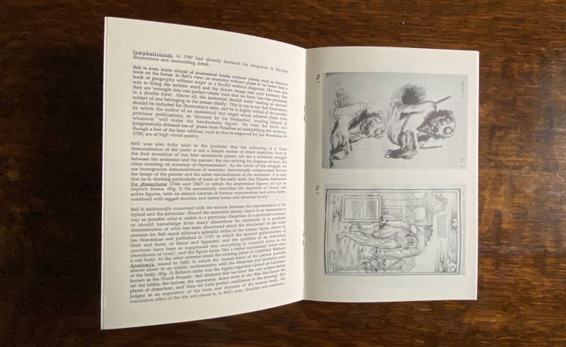 Centre pages from Bodyscapes, Images of Human Anatomy from the collections of St Andrews University