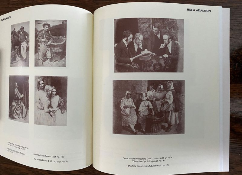 Double -page spread of Hill & Adamson photos from Mood of the Moment publication