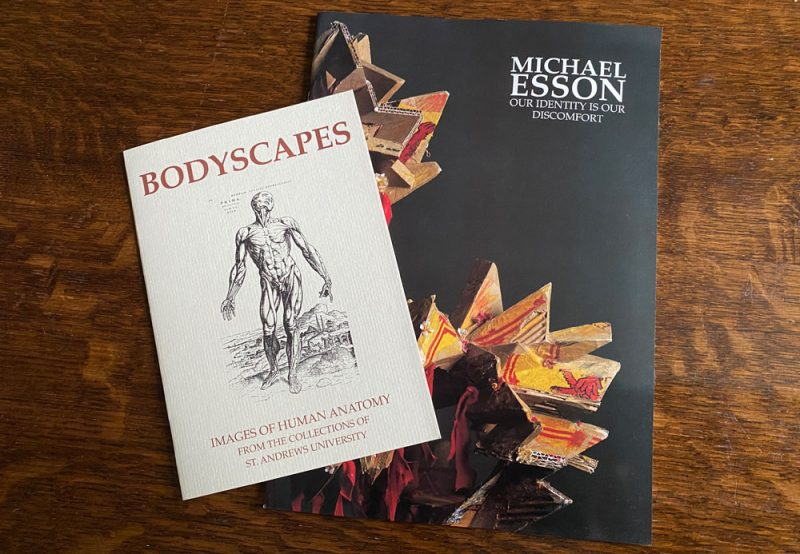 2 publications concerned with the human body and anatomy, Bodyscapes and Michael Esson's Our Identity is our Discomfort